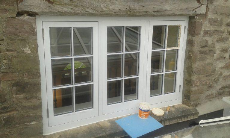Triple Casement Window Before Putty