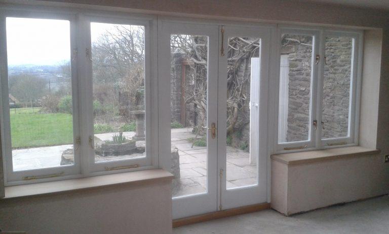 Patio Door Set with Adjoining Windows