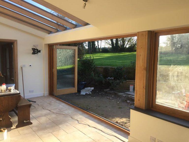4 Leaf European Oak Bi Fold Doors