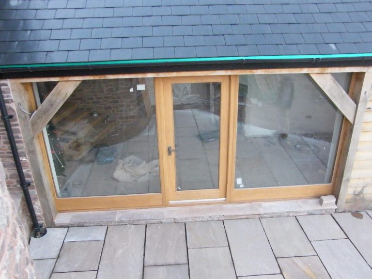European Oak Front Door and Glazing Panels