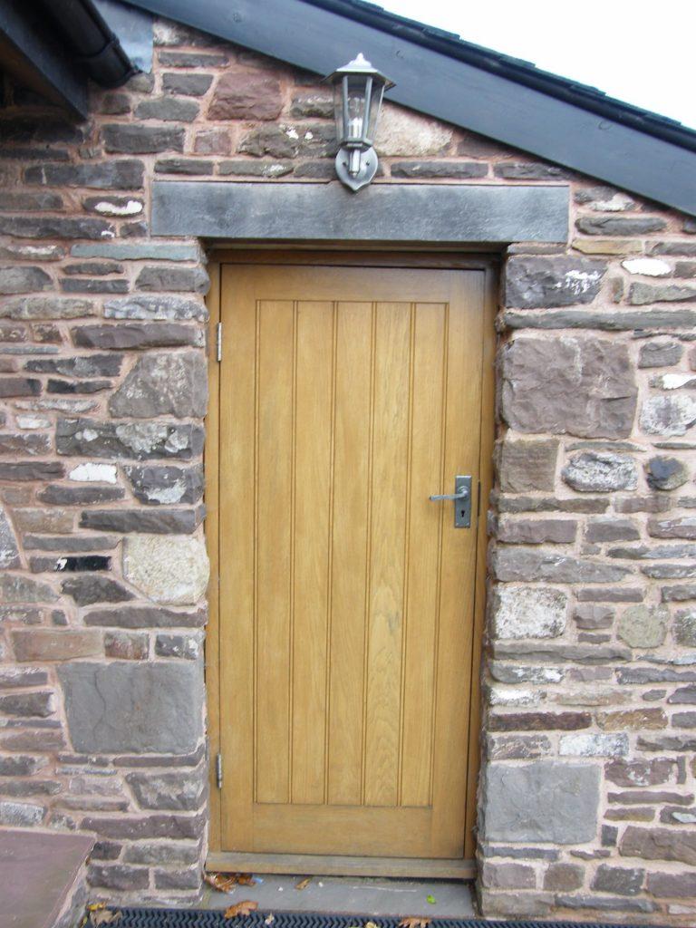European Oak Vertical Board Door