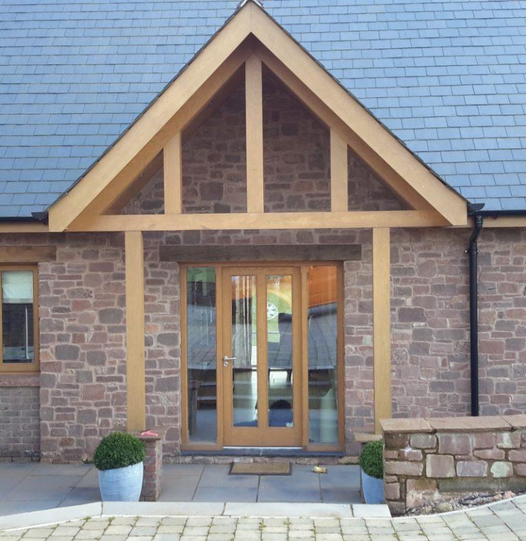 European Oak Door With Side Lights